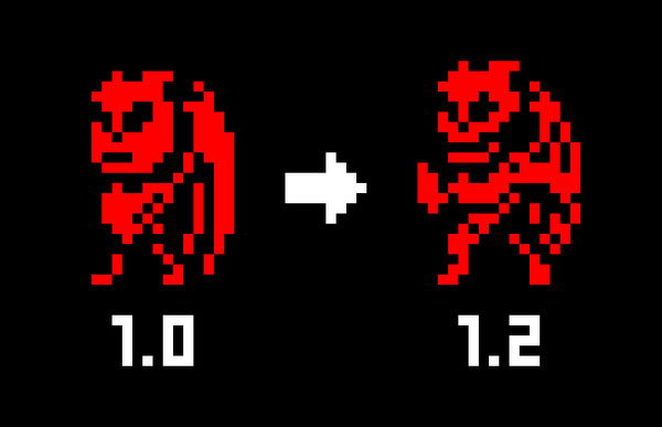 A proof that there's is room for improvement even in 1-bit sprites