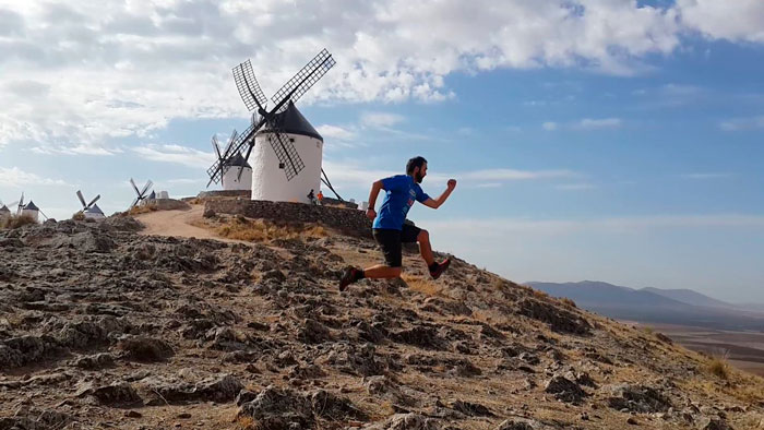 @jaimedominguez jumping around the windmills of Castilla