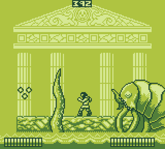 The Curse of Issyos reimagined by @ScepterDPinoy as a Game Boy game