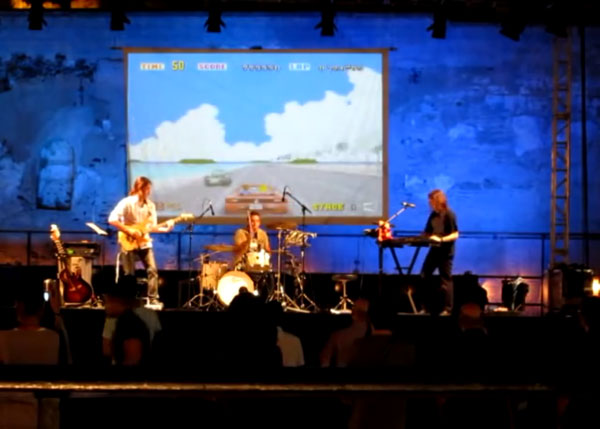 Gryzor87's 3 Bit Band live shows. I go with them just control the visuals