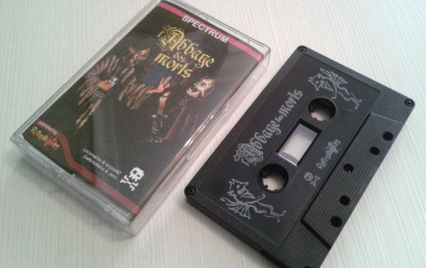 l'Abbaye des Morts was ported for the Spectrum ZX and edited in cassette format by @RetroWorks