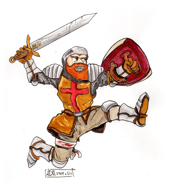 Rampant Don Ramiro illustration