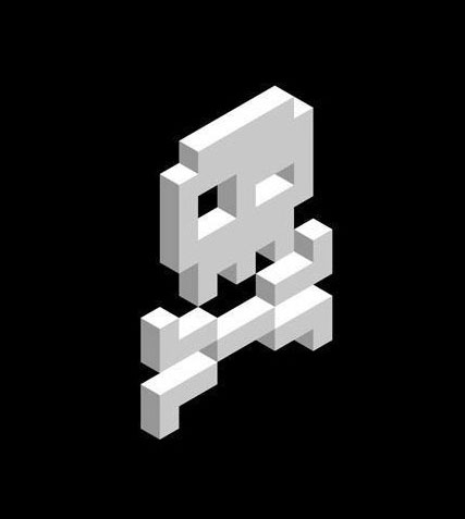 My skull in isometric 3D