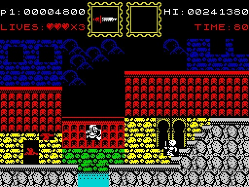 A fake Maldita Castilla screenshot for the Spectrum ZX, as a joke for April fools day