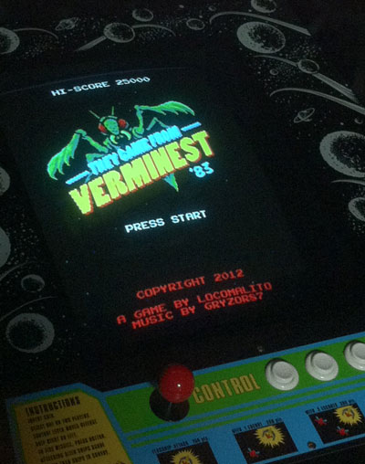 I always love to get pics of my games running on arcade cabinets built or restored by people. Thanks everyone for sending those pics! And sorry I can't post everyone here