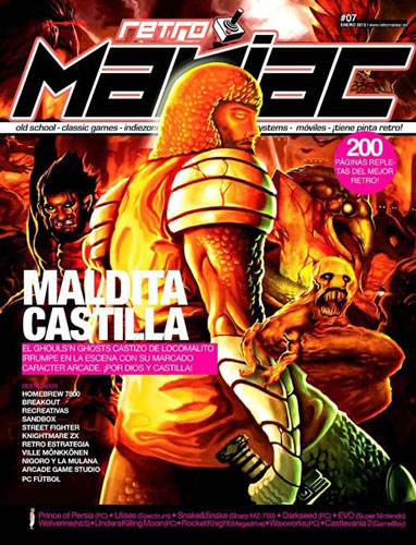 Maldita Castilla was featured in the cover of @RetromaniacMag #7