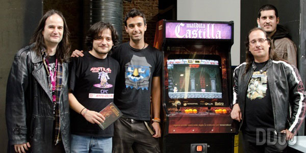 Maldita Castilla speedrun tournament in RetroMadrid 2013. The price was the arcade cabinet, the winner was Fran @Metr81